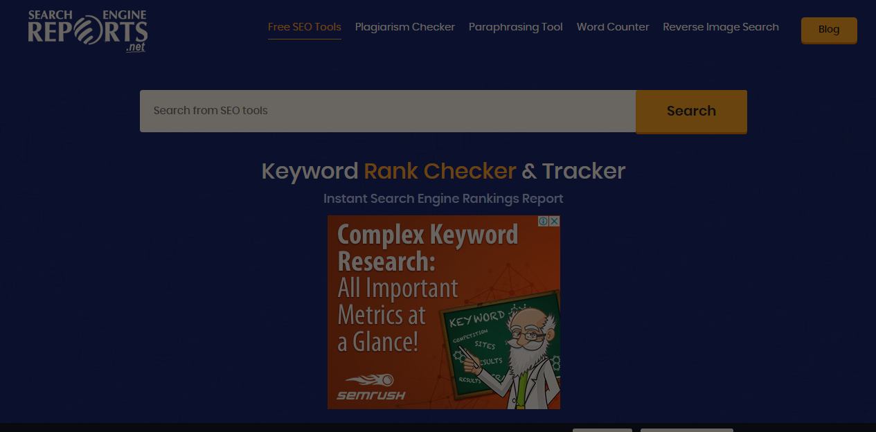 SERP's keyword rank checker