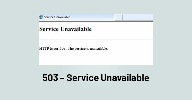 503 - Service Unavailable